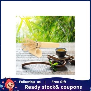 Xiyijia Natural Bamboo Chasen Matcha Green Tea Whisk Long Handle Powder Brush Tool