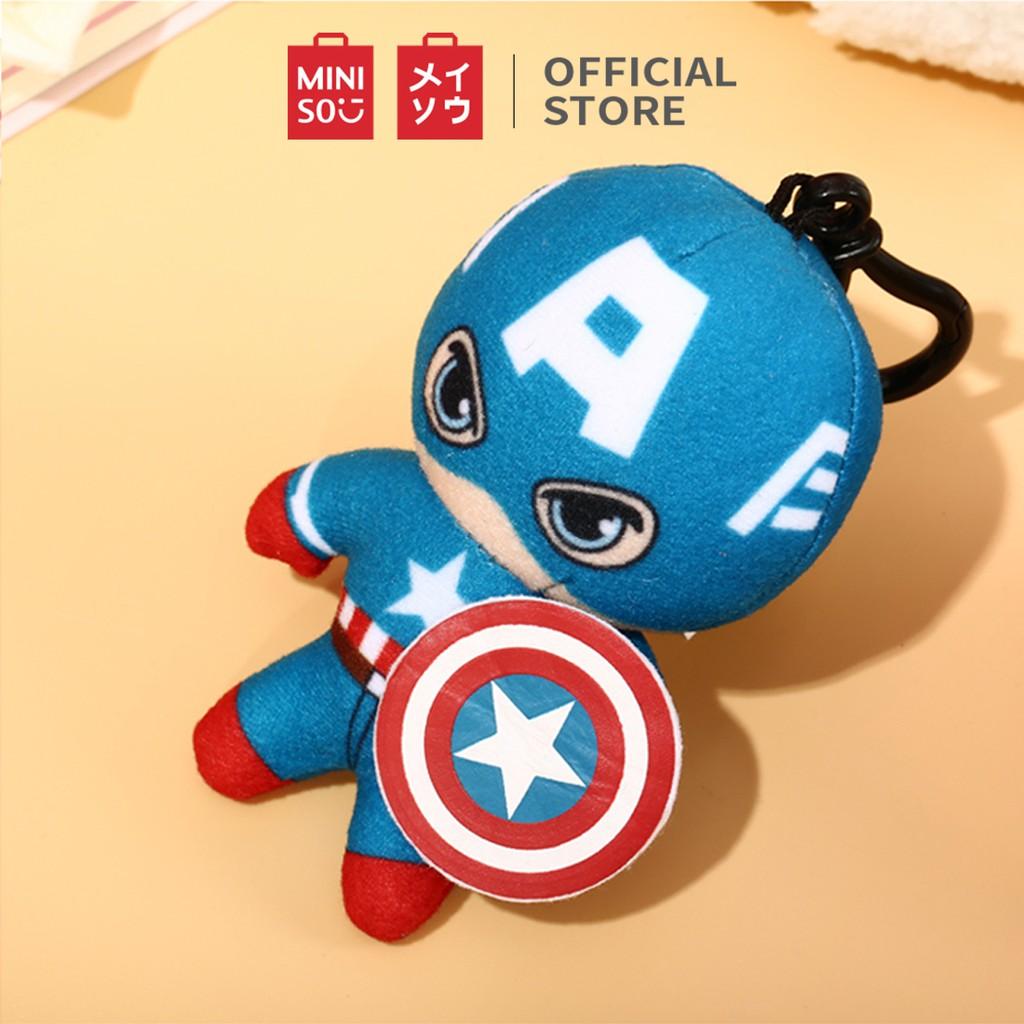 Đồ chơi nhồi bông Miniso Captain America Marvel (Xanh) - Hàng chính
