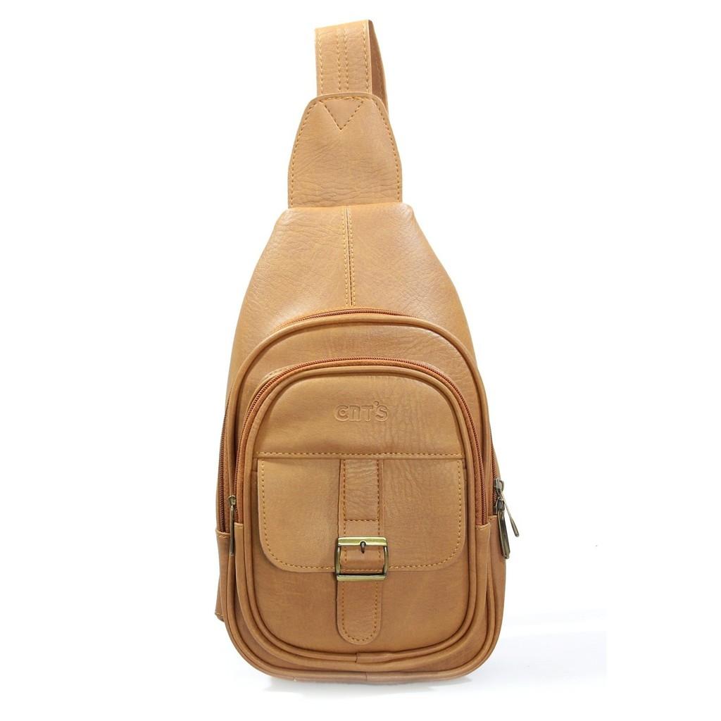 Túi da đeo chéo CNT unisex MQ12 nhiều màu phong cách hàn quốc
