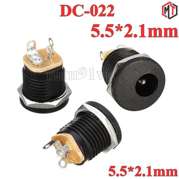 Jack Nguồn DC-022 5.5*2.1mm có ren