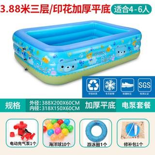 Trẻ em gas pad bể bơi bơm hơi người lớn nhựa quá khổ ngoài trời hồ bơi trẻ em nhà mùa hè hồ bơi dày