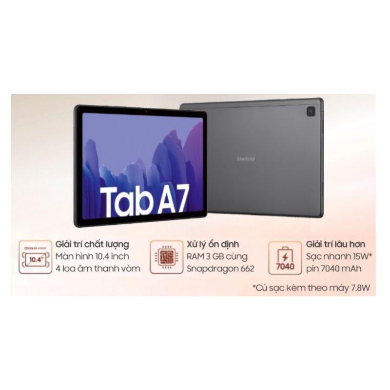 Máy tính bảng Samsung Galaxy A7 2020 máy mới 100%, pin xài cực lâu.