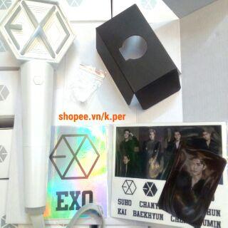 (có sẵn, quà pre) chính hãng EXO OFFICIAL LIGHT STICK version 3 | Cây cổ vũ, gậy phát sáng, buổi hòa nhạc