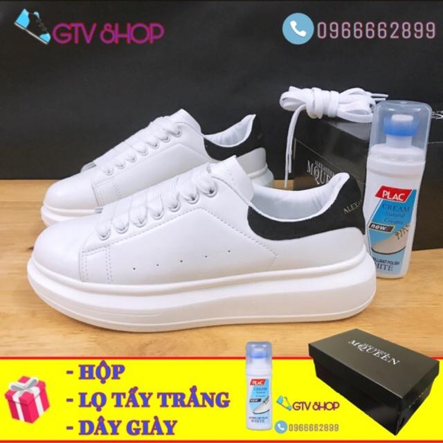 [Tặng hộp + Lọ tẩy trắng + Dây giày] Giày thể thao nam nữ, chất liệu CAO CẤP, đế độn 5cm, size 36 đến 43 . .