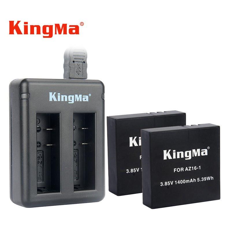 Combo Sạc Đôi + 2 Pin Kingma Cho Xiaomi Yi 4K