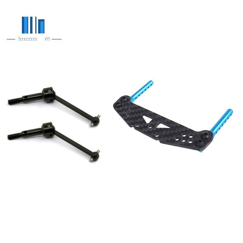 Aluminum Front Rear Body Post Mounts and Carbon Fiber Shock Tower for Tamiya TT01 & Universal Swing Shaft CVD 53792
