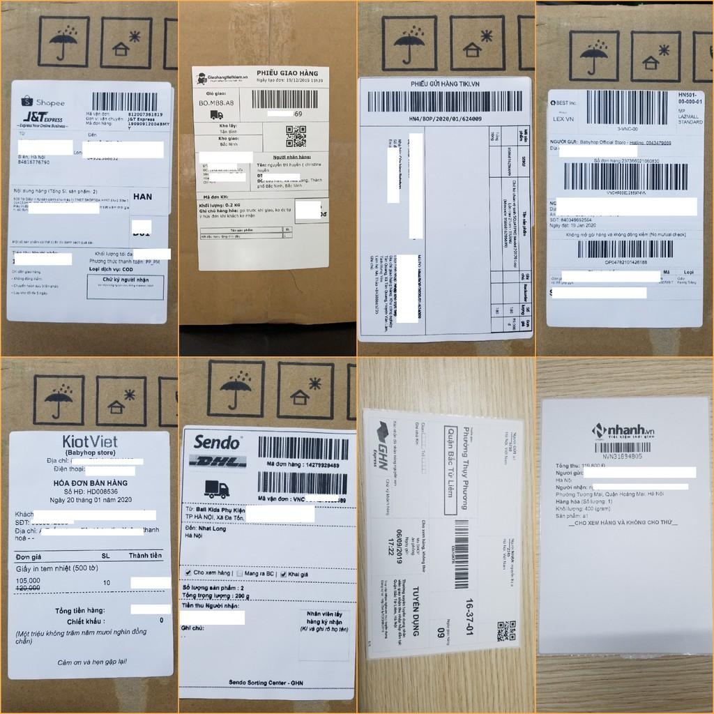 Giấy in nhiệt Shoptida 1000 tờ A6 10*15cm 3 lớp tự dán chống nước, sử dụng cho máy in nhiệt Shoptida SP46