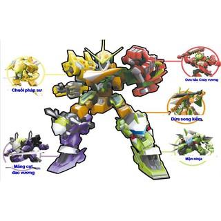 Robo Trái Cây – Trọn bộ Ngũ Quả Sư Phụ – YW520722-ABCDE