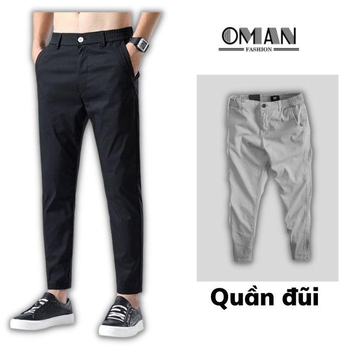 Quần đũi, quần dài nam ống xuông mặc đi làm, đi học - OMAN DQ71