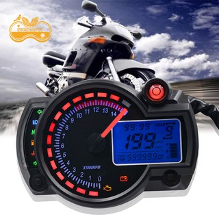 Đồng hồ tốc độ hiển thị LCD kỹ thuật số 12V cho xe máy