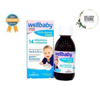 Vitamin tổng hợp cho bé Wellbaby bổ sung vitamin và khoáng cho bé yêu ăn ngon ngủ ngon phát triển toàn diện chai 150ml