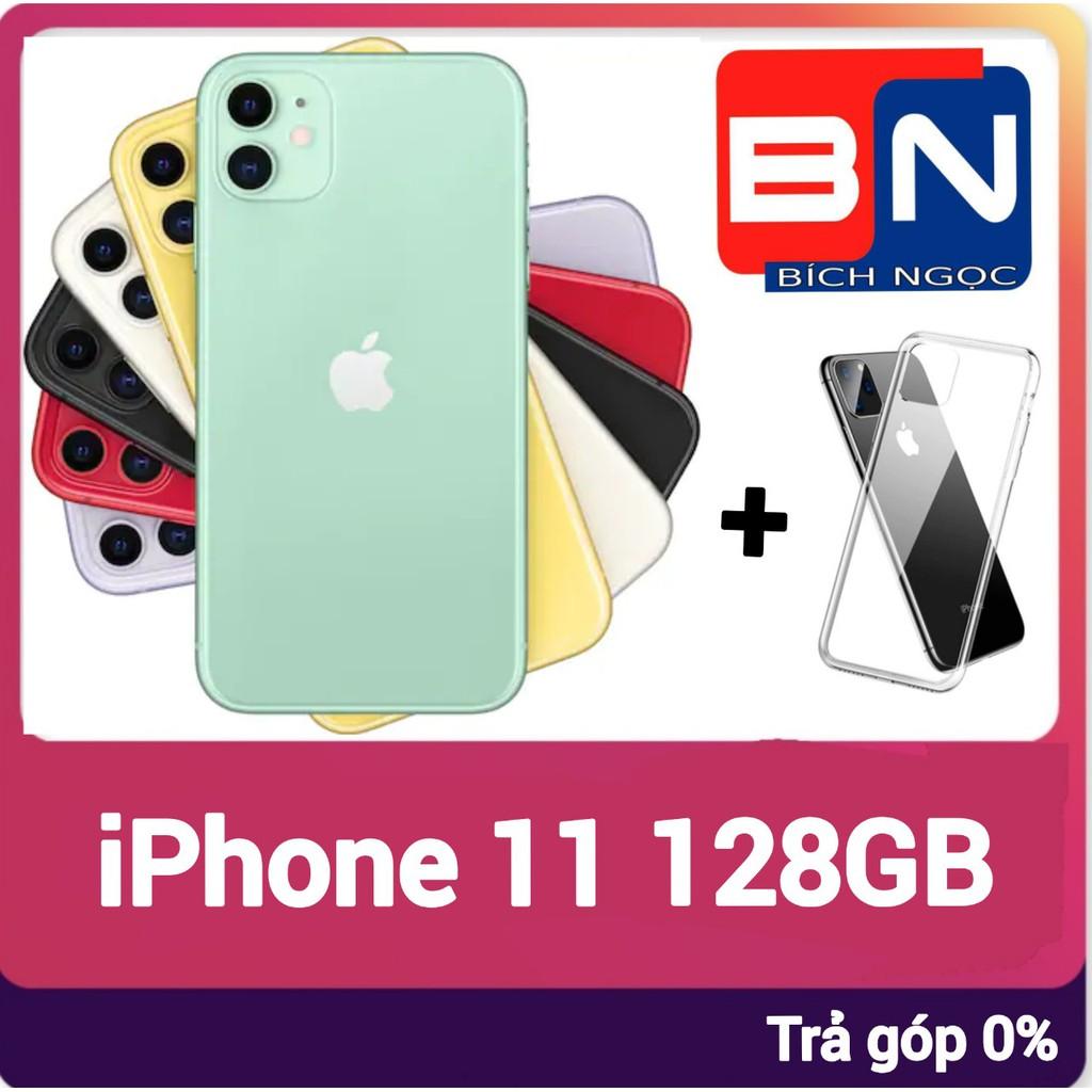Combo Điện thoại Apple iPhone 11 128GB + ốp lưng bảo vệ - Hàng mới 100% chưa kích hoạt