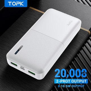 Hình ảnh TOPK I2009 20000mAh Powerbank Portable Dual Ports USB Charger External Battery for Xiaomi Samsung iPhone-7