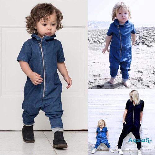 ✿ℛInfant Newborn Baby Boy Girl Long Jumpsuit Romper Bodysuit Cotton Clothes Outfit