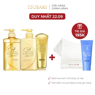 """Combo gội xả và kem xả Phục hồi ngăn rụng tóc Premium Repair Tsubaki (490mlx2 + 180g) giá chỉ còn <strong class=""""price"""">35.900.000.000đ</strong>"""