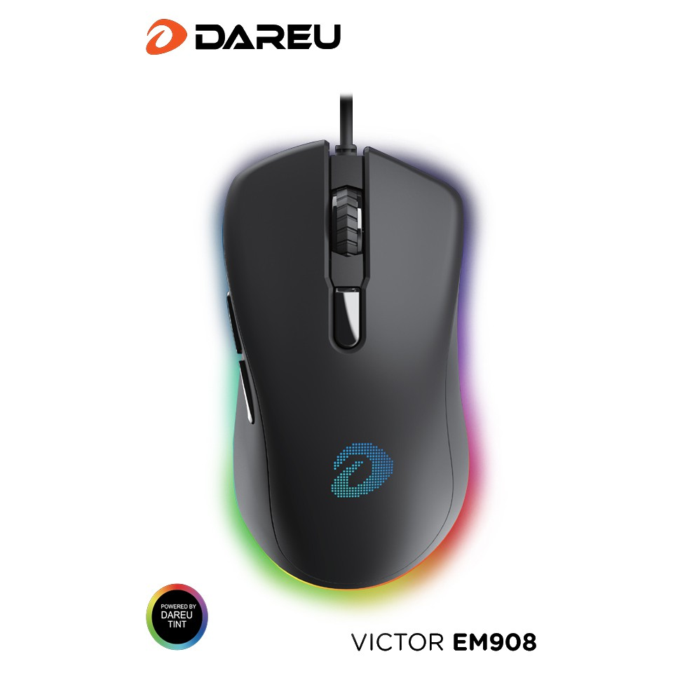 Chuột Gaming Dareu EM908 Led RGB - Chuột Máy Tính có Dây - Hàng Chính hãng