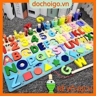 Bộ bảng số thông minh, bảng học chữ cái, số, trò chơi câu cá, đồ chơi phát triển trí tuệ dochoigo.vn