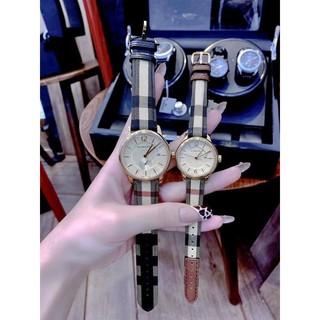 Đồng hồ đôi Burberry nam, nữ Bu10104 và Bu10001 Fullbox chính hãng Authentic thumbnail