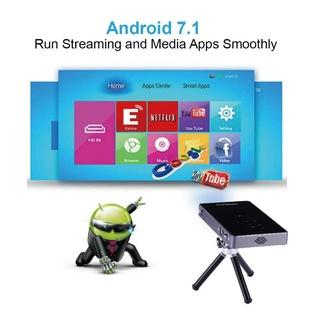 Máy chiếu di dộng có thể cầm tay , android 7.1 ,wifi ,youtube,google,chơi game ,hay quá cực kì tiện lợi và hiện đại