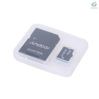 Mới Thẻ Nhớ TF Andoer 16GB Class 10 + Bộ Chuyển Đổi Thẻ TF Cho Máy Ảnh / Điện Thoại / Máy Tính