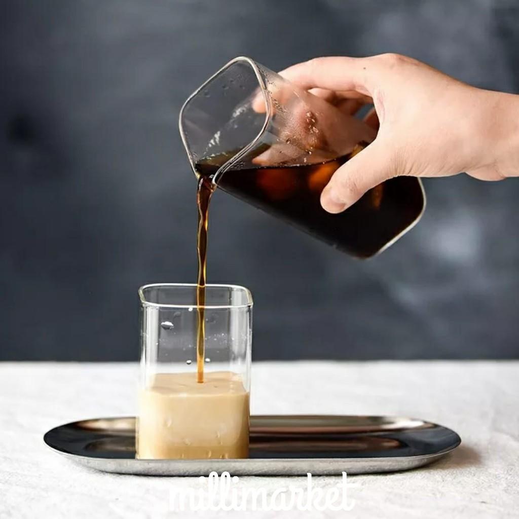 Hộp Thủy Tinh Vuông Đựng Sữa Borosilicate Chịu Nhiệt Phong Cách Bắc Âu Kính