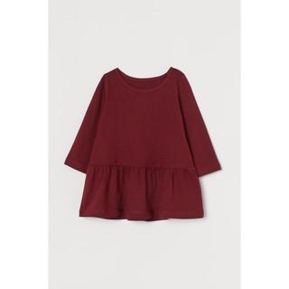 Váy dài tay đỏ đô HM H&M _ hàng chính hãng Anh