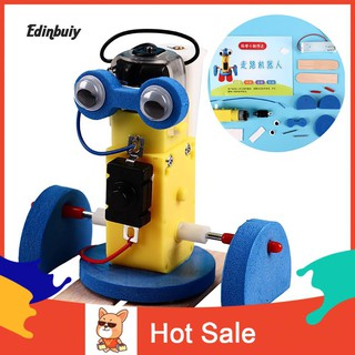 ☼Ready DIY Handmade Mini Moving Electric Robot Science Experiment Educational Kids Toy