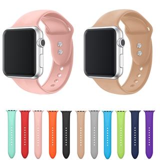 Dây Đeo Silicon Mềm Thoáng Khí Chống Mồ Hôi Cho Đồng Hồ Thông Minh Apple Watch Series 6 5 4 3 2 1 38 / 40 42 / 44mm