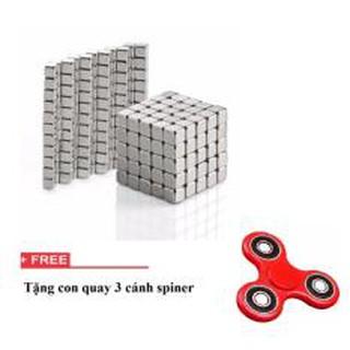 Bộ đồ chơi xếp hình 216 viên nam châm thông minh vuông / nam châm ảo thuật + tặng con quay spinner 3 cánh