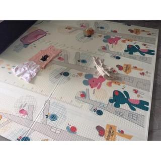 Thảm xốp XPE phủ silicon 2 mặt cao cấp cho bé chơi thoải mái gấp gọn LOẠI DÀY