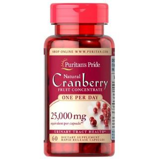 Viên uống giảm viêm đường tiết niệu, giảm tiểu dắt, chống oxy hóa Puritan s Pride Natural Cranberry 60 viên thumbnail