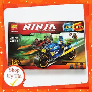 🔥HOT🔥 [ ĐỒ CHƠI LEGO GIÁ RẺ ] Đồ chơi Lego Xếp hình Lego Ninjago Bela 10579 Bộ lắp ráp Xe máy của Jay [ ảnh thật ]