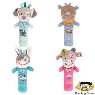 ♪U-Baby Lathe Hanging Ring Animal Rattle Crib Hanging Baby Stroller Hanging Toys Teethers Stuffed Doll