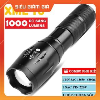 Đèn pin XML T6 siêu sáng – Đèn pin quân đội sạc bin chống nước | (GD28)