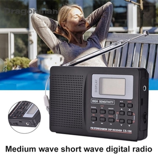 Portable Digital World Full Band Radio Receiver AM FM SW MW Radio with External Antenna thumbnail