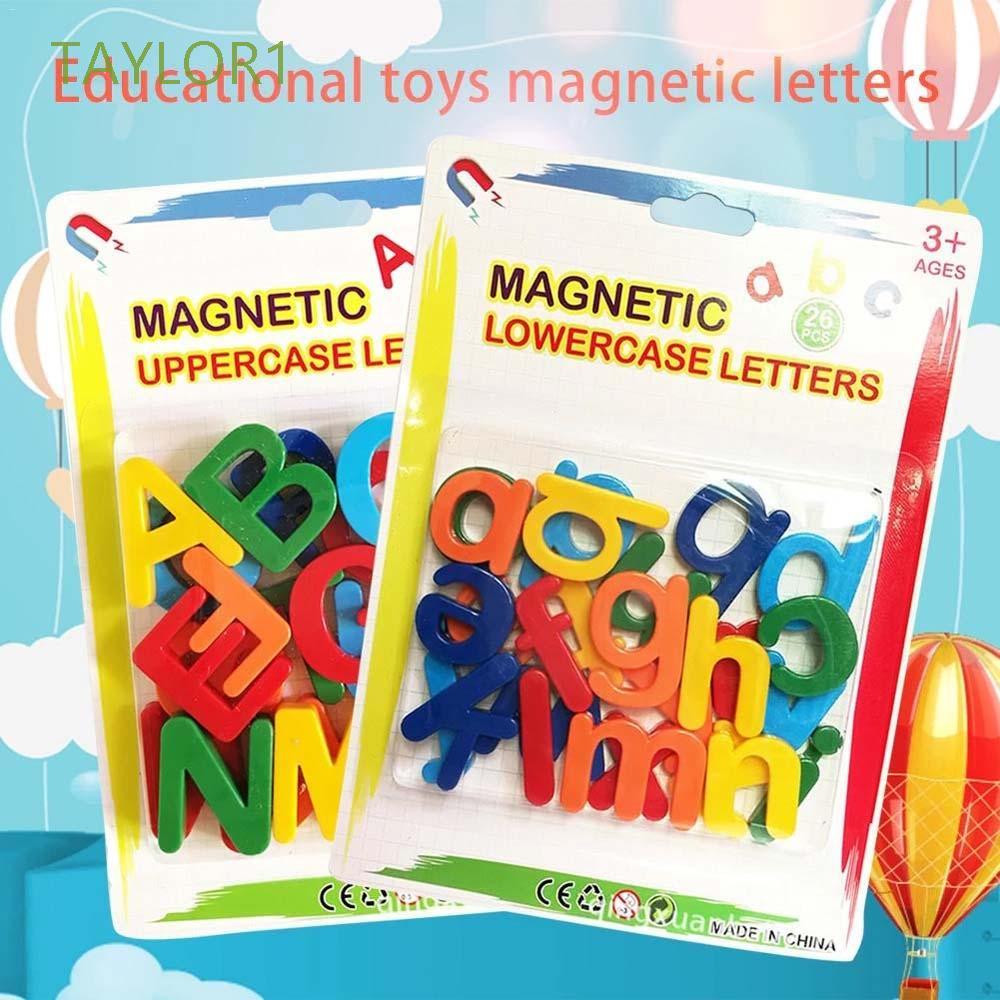 Bộ 26 chữ cái bằng nhựa có nam châm gắn tủ lạnh tiện lợi giúp bé học và phát âm bảng chữ cái hiệu quả