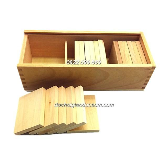 Cảm quan nặng nhẹ - Giáo cụ Montessori