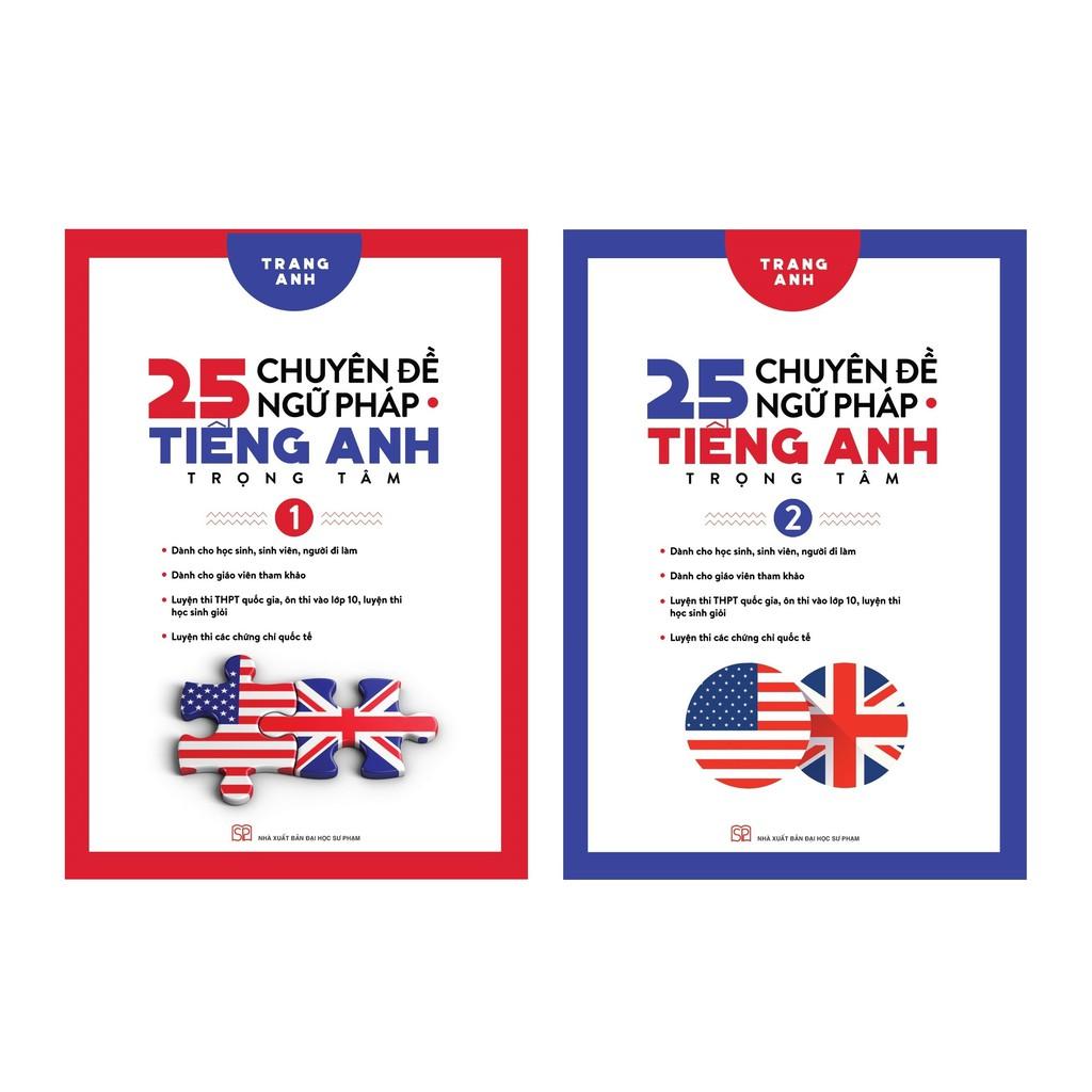 Sách - Combo 25 Chuyên Đề Ngữ Pháp Tiếng Anh Trọng Tâm Tập 1 và Tập 2 (Trọn Bộ 2 Tập)