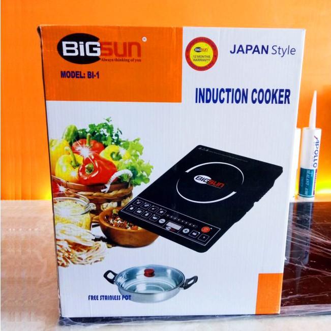 Bếp điện từ 1100W Bigsun BI-1 tặng kèm nồi lẩu đa năng