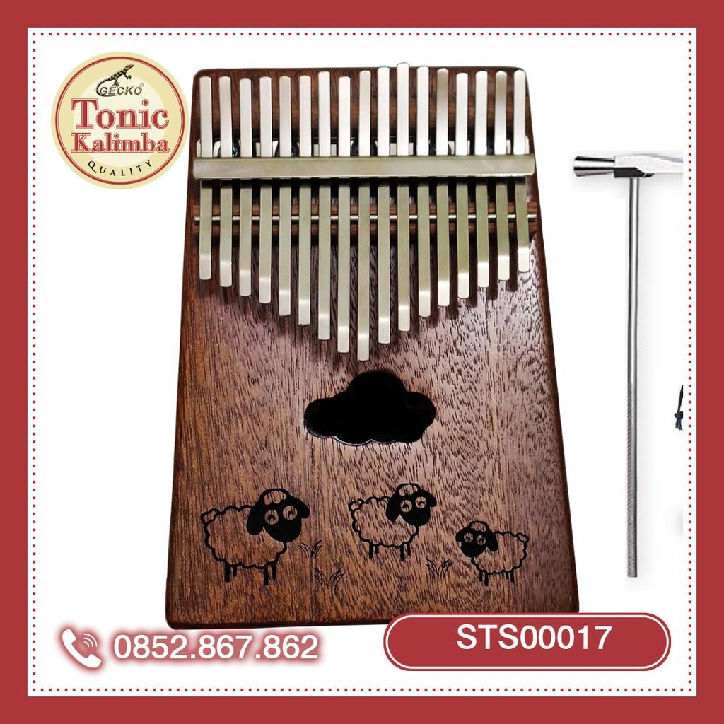 CÓ SẴN] Kalimba 17 phím gỗ mahagony shaun the sheep những chú cừu vui vẻ  STS00017 - Đàn organ - keyboard Nhãn hàng No brand