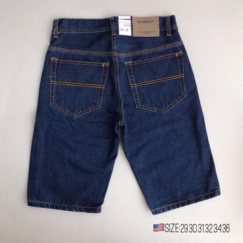 Quần short jean nam đơn giản (3 màu, ống suông) - có size Bự
