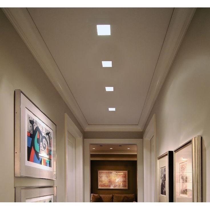 Combo10 đèn ốp trần nổi MONSKY 12W Vuông 2 màu ánh sáng hiện đại