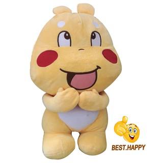 [CÓ SẴN] Gấu bông Sticker Qoobee thần thánh hàng nhập cao cấp size 50cm, món quà đồ chơi tuyệt vời cho các bé