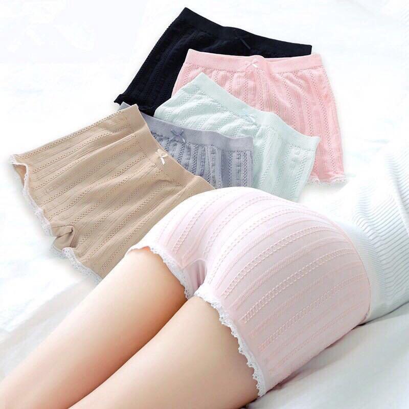 Quần mặc váy | Quần đùi mặc váy chất len gân