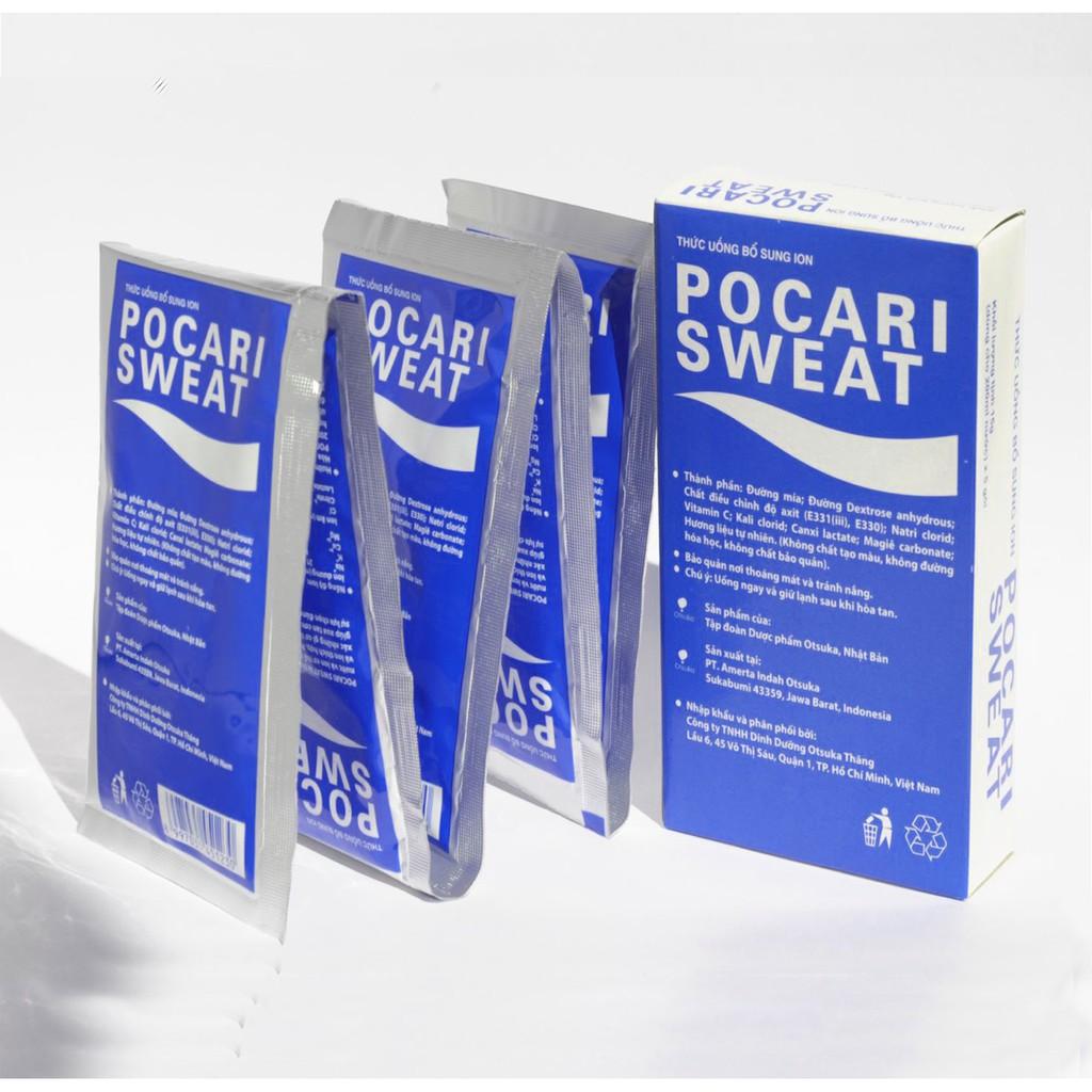 [Mã GROSALEHOT giảm 8% đơn 250K] Bột Pocari Sweat Hộp 15g x 5gói - Thức uống bổ sung ion