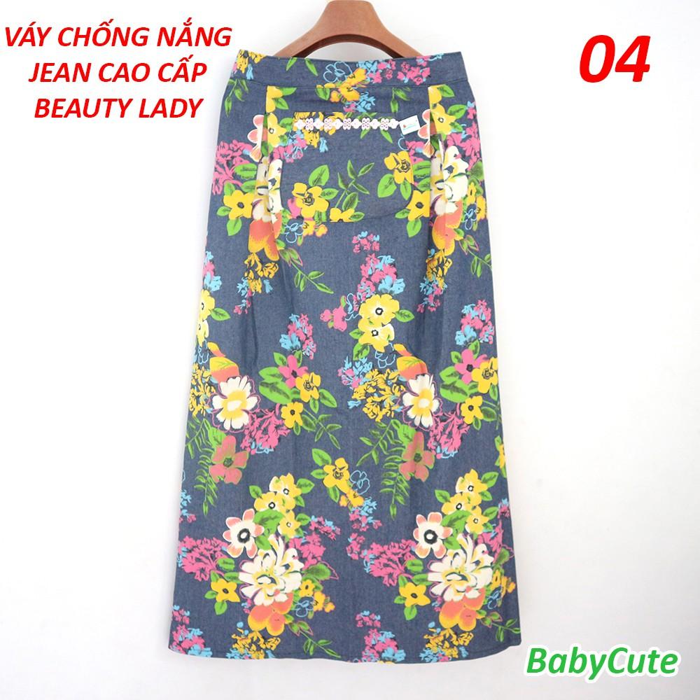 Váy Chống Nắng 1 Lớp JEAN HOA Cao Cấp Beauty Lady - Thương Hiệu BabyCute - Giao Mẫu Ngẫu