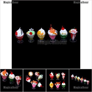 Magicalhour 1:6 Dollhouse Miniature Soldier BJD props Siwan Fruit Icecream Jelly Hot