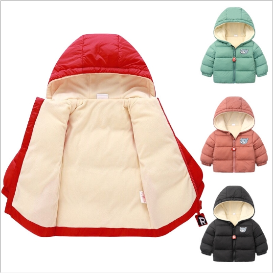 Áo Phao gấu có mũ, lót nỉ hàng xuất Châu Âu siêu ấm áp cho bé yêu