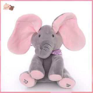 ❤promotion❤Plush Elephant Gray Plus Red English Version Elephant