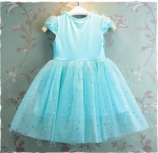 Đầm dự tiệc in hình công chúa Anna Elsa xinh xắn đáng yêu phong cách hè cho bé